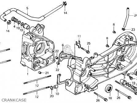 Honda CH250 ELITE 250 1990 (L) USA parts lists and schematics