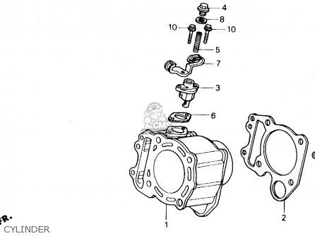Honda CH250 ELITE 250 1990 (L) USA parts lists and schematics