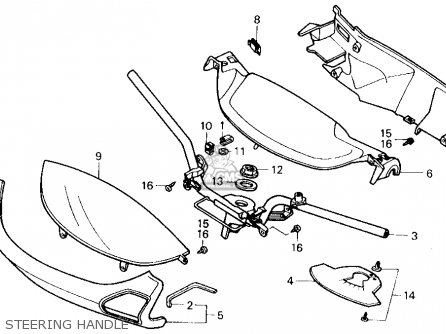 Honda Ch250 Elite 250 1990 (l) Usa parts list partsmanual