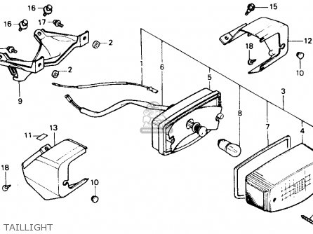 Honda CH80 ELITE 80 1985 (F) USA parts lists and schematics