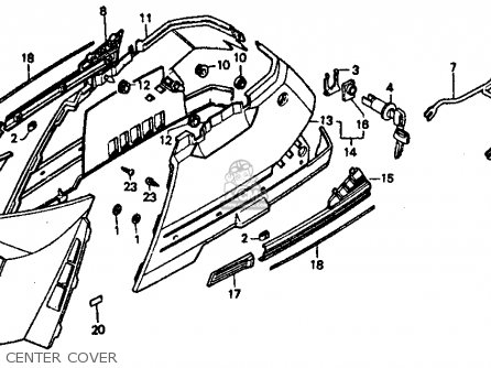 Honda Ch80 Elite 80 1986 (g) Usa parts list partsmanual