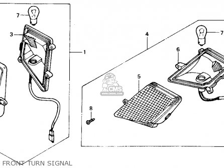 Honda CH80 ELITE 80 1986 (G) USA parts lists and schematics