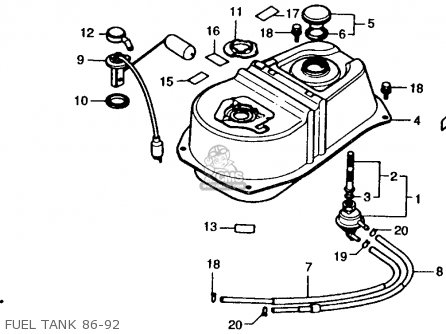 Honda Ch80 Elite 80 1986 (g) Usa parts list partsmanual