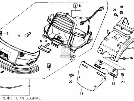 Honda Ch80 Elite 80 1987 (h) Usa parts list partsmanual
