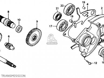 Honda Ch80 Elite 80 1987 (h) Usa parts list partsmanual