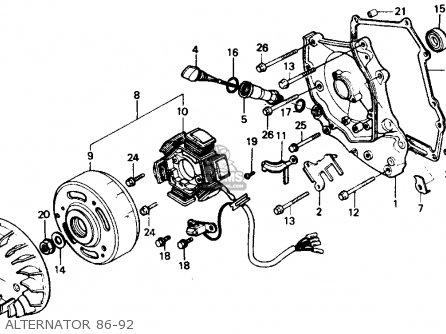Honda Ch80 Elite 80 1987 Usa parts list partsmanual partsfiche