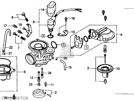 Honda CH80 ELITE 80 1989 (K) USA parts lists and schematics