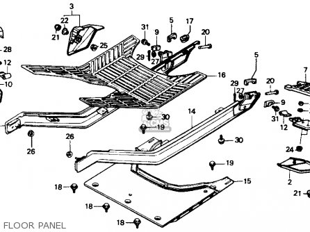 Honda Ch80 Elite 80 1989 (k) Usa parts list partsmanual
