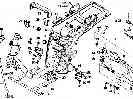 Honda CH80 ELITE 80 1989 (K) USA parts lists and schematics