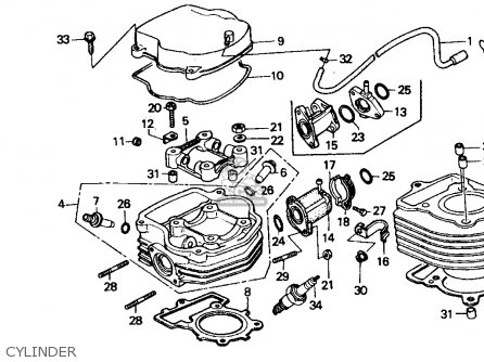Honda Ch80 Elite 80 1992 (n) Usa parts list partsmanual