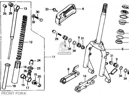 Honda CH80 ELITE 80 1992 (N) USA parts lists and schematics