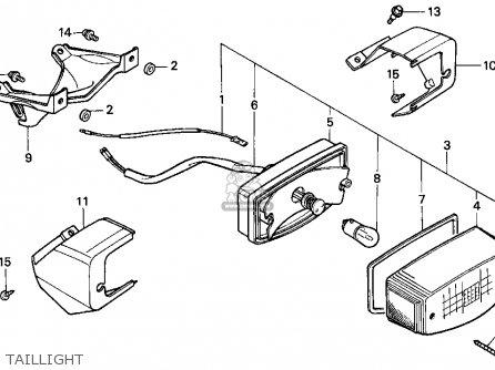 Honda Ch80 Elite 80 1993 (p) Usa parts list partsmanual