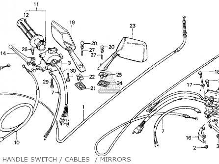 Honda CH80 ELITE 80 1994 (R) USA parts lists and schematics