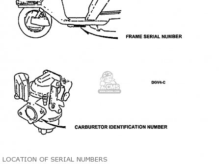 Honda Ch80 Elite 80 1994 Usa parts list partsmanual partsfiche