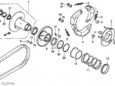 Honda Ch80 Elite 80 1995 (s) Usa parts list partsmanual