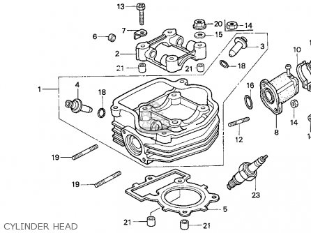 Honda CH80 ELITE 80 1995 (S) USA parts lists and schematics