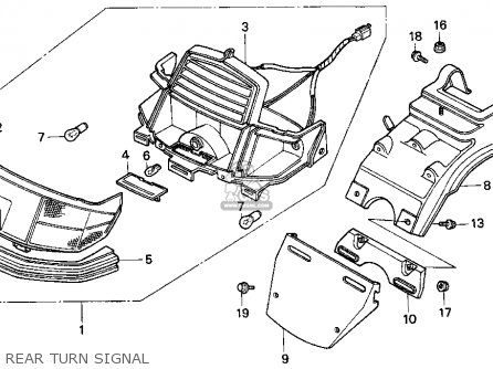 Honda Ch80 Elite 80 1996 (t) Usa parts list partsmanual