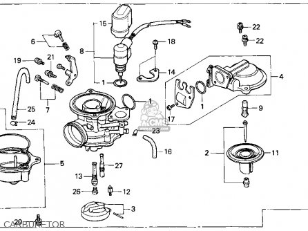 Honda CH80 ELITE 80 1999 (X) USA parts lists and schematics
