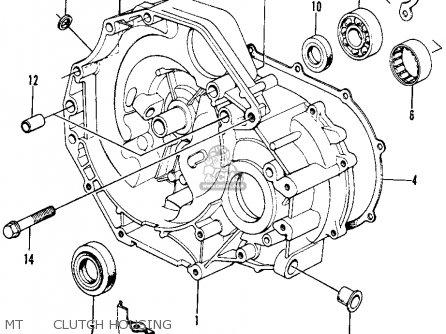 Honda Civic 1973 2dr1200 (ka) parts list partsmanual