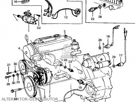 Honda CIVIC 1974 3DR1200 (KA) parts lists and schematics