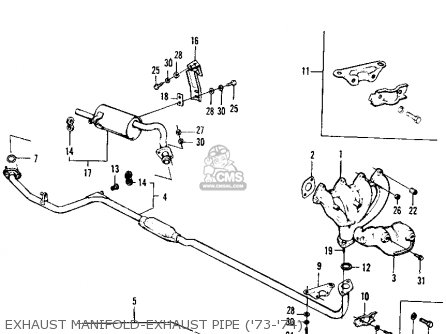Honda Civic 1974 3dr1200 (ka) parts list partsmanual