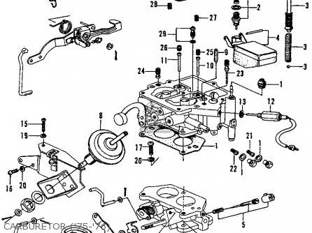 Honda Civic 1976 2dr1200 (ka) parts list partsmanual