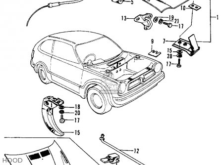 Honda Civic 1976 2dr1200 (ka) parts list partsmanual
