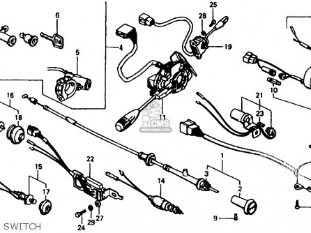 Honda CIVIC 1977 2DR1200 (KA) parts lists and schematics