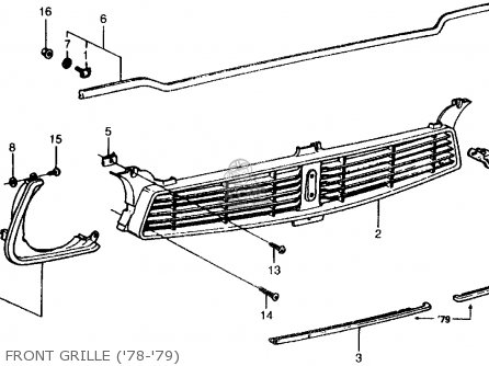 Honda CIVIC 1978 2DR1200 (KA) parts lists and schematics