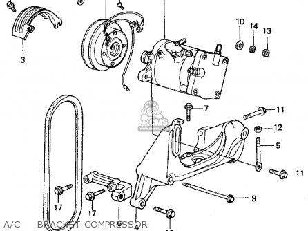 Honda Civic 1981 4dr1500 (ka,kh,kl) parts list partsmanual
