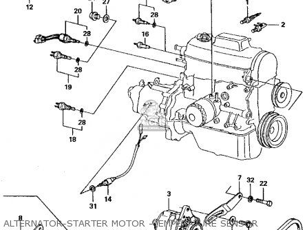 Honda Civic 1981 4dr1500 (ka,kh,kl) parts list partsmanual