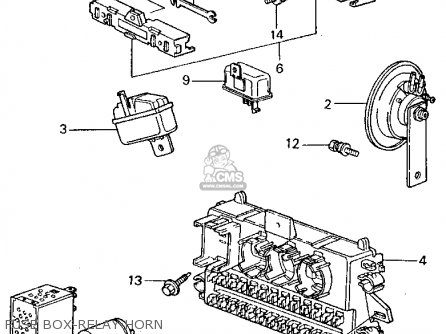 Honda CIVIC 1981 (B) 4DR1500 (KA,KH,KL) parts lists and