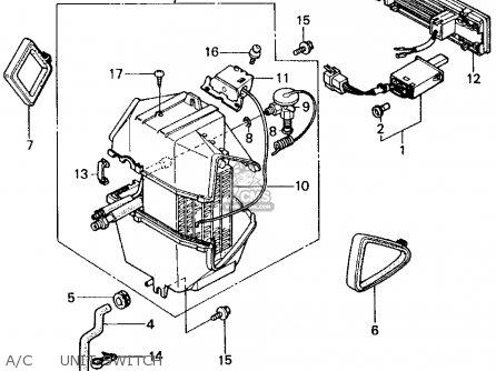 Honda Civic 1982 (c) 4dr1500 (ka,kh,kl) parts list