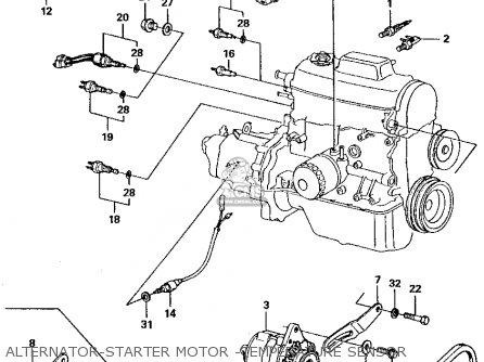 Honda Civic 1983 4dr1500 (ka,kh,kl) parts list partsmanual