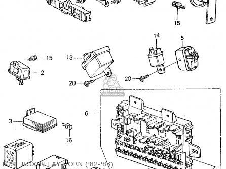 Honda CIVIC 1983 (D) 4DR1500 (KA,KH,KL) parts lists and