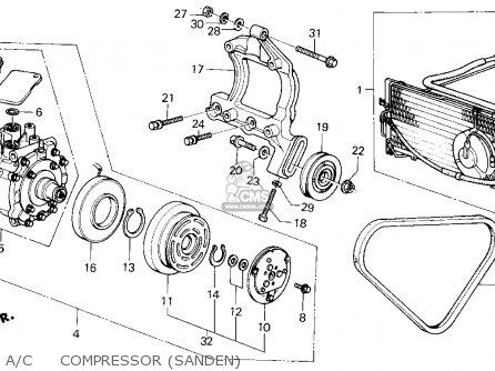 Honda Civic 1984 4dr Gl (ka,kl) parts list partsmanual
