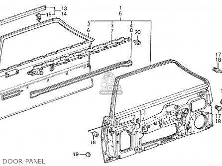 Honda Civic 1984 (e) 3dr Dx 1500 (ka,kl) parts list