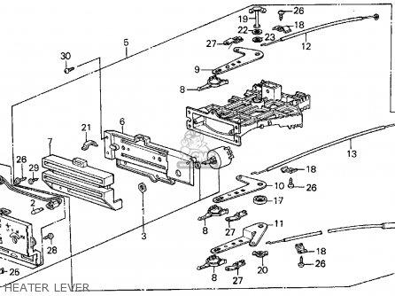 Honda Civic 1984 (e) 3dr S 1500 (ka,kl) parts list