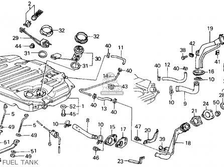 Honda CIVIC 1984 (E) 4DR GL (KA,KL) parts lists and schematics