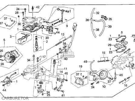 Honda Civic 1985 3dr Dx 1500 (ka,kl) parts list