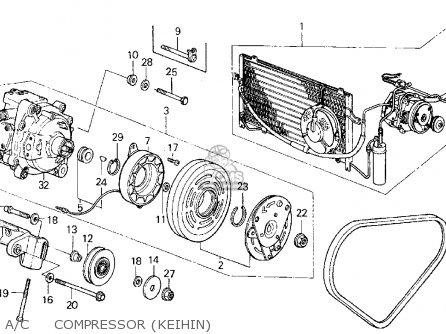 Honda Civic 1985 (f) 3dr Dx 1500 (ka,kl) parts list