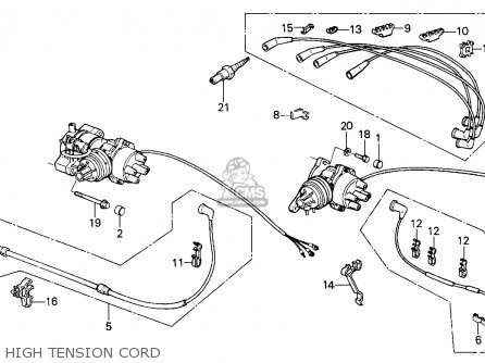 Honda Civic 1985 (f) 3dr1300 (ka,kh,kl) parts list