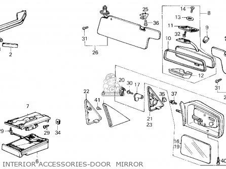Honda Civic 1985 (f) 3dr1300 (ka,kh,kl) parts list