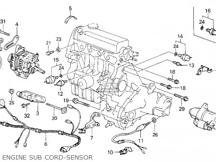 Honda Civic 1986 3dr Dx 1500 (ka,kl) parts list