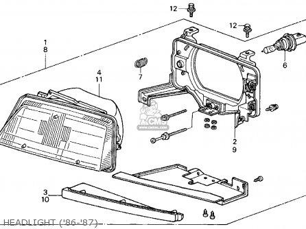 Honda Civic 1986 3dr Si 1500 (ka,kl) parts list
