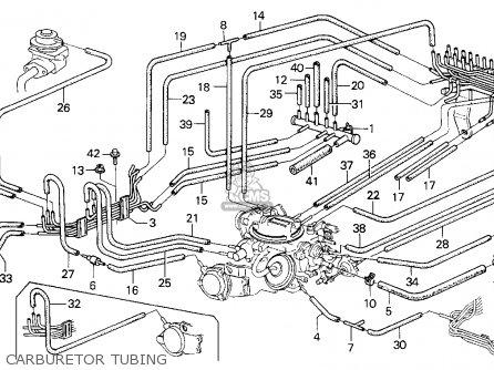Honda Civic 1986 4dr Gl (ka) parts list partsmanual partsfiche