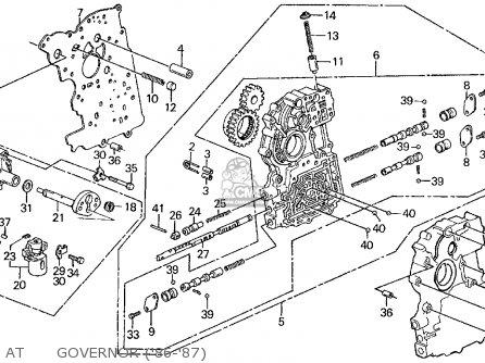 Honda CIVIC 1986 (G) 3DR DX 1500 (KA,KL) parts lists and