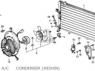Honda Civic 1986 (g) 4dr Gl (ka) parts list partsmanual