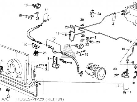 Honda Civic 1986 (g) 4dr Gl (ka) parts list partsmanual