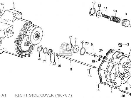 Honda CIVIC 1986 (G) 4DR GL (KA,KL) parts lists and schematics